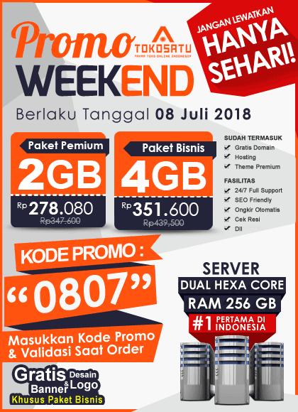 Promo Weekend Tokosatu, Edisi 08 Juli 2018