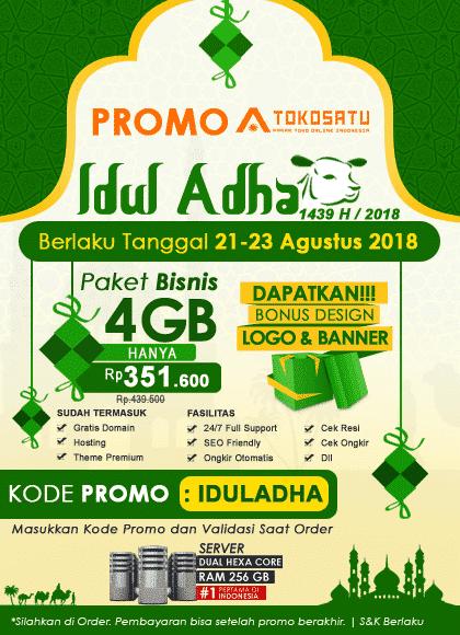 Promo Hari Raya Idul Adha 1439 H, 21-23 Agustus 2018