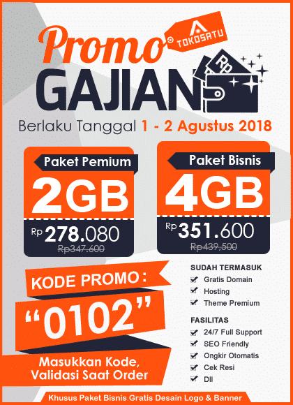 Promo Gajian Tokosatu, Edisi 1 – 2 Agustus 2018