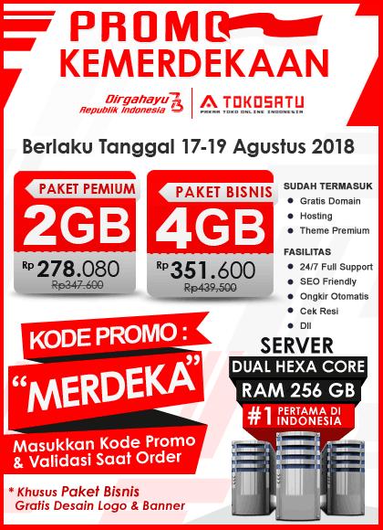 Promo Hari KEMERDEKAAN Edisi Agustus 2018