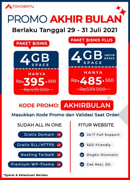 Promo Akhir Bulan Tokosatu 29-31 Juli 2021