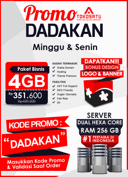 Promo Dadakan Toko Satu, 23 – 24 September 2018