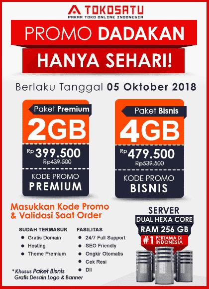 Promo Dadakan Tokosatu, 5 Oktober 2018