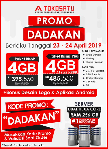 Promo Tokosatu Dadakan, 23 – 24 April 2019