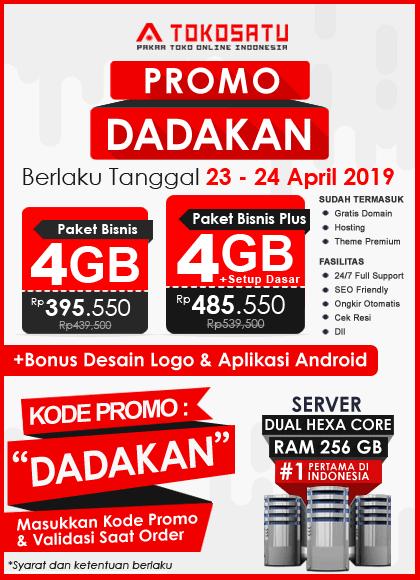 Promo Tokosatu Dadakan, 23 – 24 April 2019