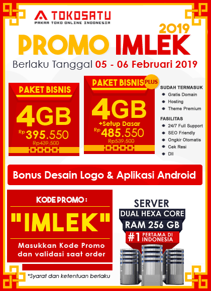 Promo Imlek Tokosatu, 05-06 Februari 2019