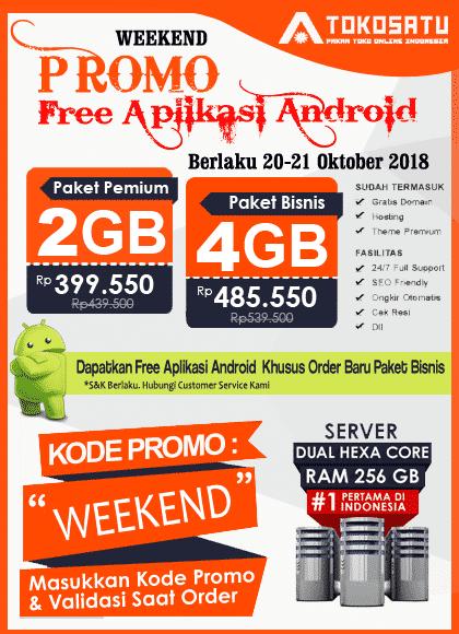 Promo Weekend Tokosatu, 20 – 21 Oktober 2018