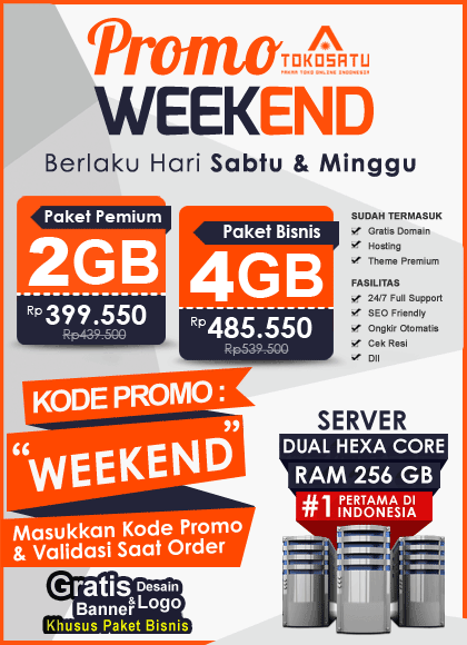 Promo Weekend Tokosatu, 06 – 07 Oktober 2018