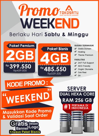 Promo Weekend Tokosatu, 06 – 07 Oktober 2018