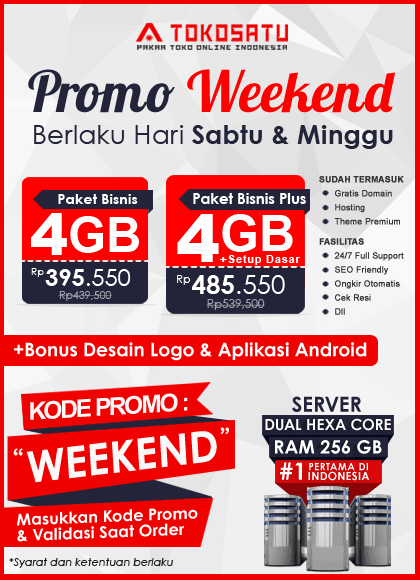 Promo Weekend Tokosatu, 9 – 10 November 2019