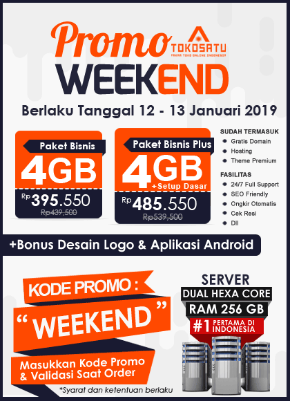 Promo Weekend Tokosatu, 12 – 13 Januari 2019