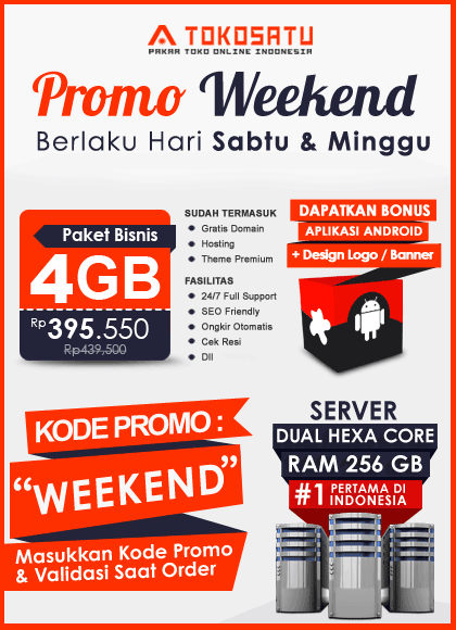 Promo Weekend Tokosatu, 17 – 18 November 2018