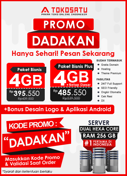 Promo Tokosatu Dadakan, 12 April 2019