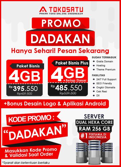 Promo Tokosatu Dadakan, 28 Juni 2019