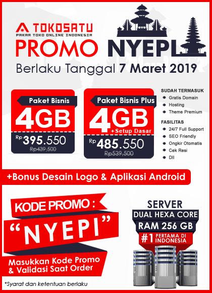 Promo Nyepi Tokosatu, 07 Maret 2019