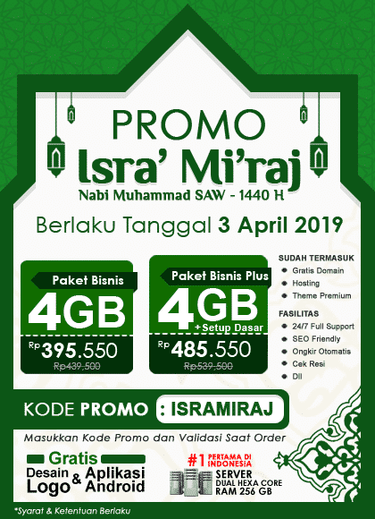 Promo Isra' Mi'raj 1440 H, 03 April 2019