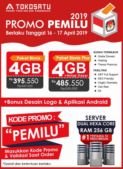 Promo Tokosatu PEMILU 2019, 16 – 17 April 2019