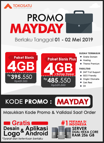 Promo Tokosatu May Day, 01 – 02 Mei 2019