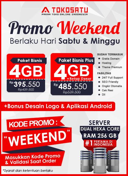 Promo Weekend Tokosatu, 19 – 20 Oktober 2019