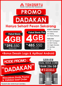 Promo Tokosatu Dadakan, 03 Januari 2020