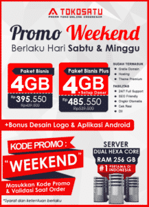 Promo Weekend Tokosatu, 23 – 24 November 2019