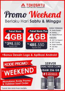 Promo Weekend Tokosatu, 29 – 30 Agustus 2020
