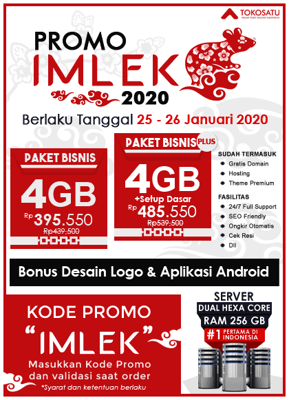 Promo Imlek Tokosatu, 25 – 26 Januari 2020