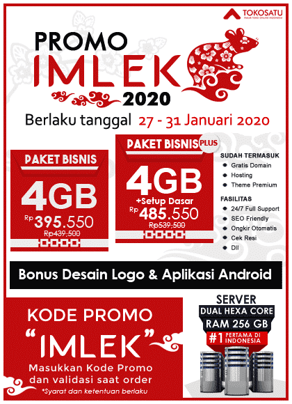 Promo Imlek Tokosatu, 27 – 31 Januari 2020