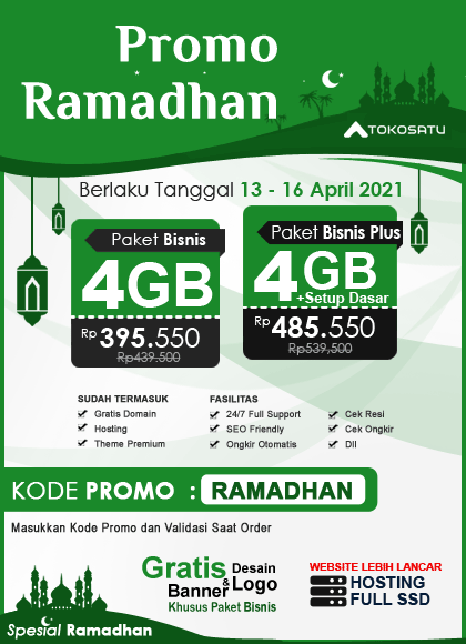 Promo Ramadhan 1442 H, 13 – 16 April 2021