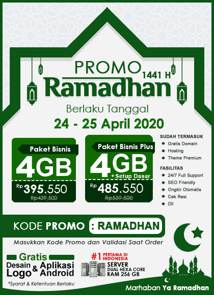 Promo Ramadhan 1441 H, 24 – 25 April 2020