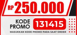 Diskon 15% up to 250.000