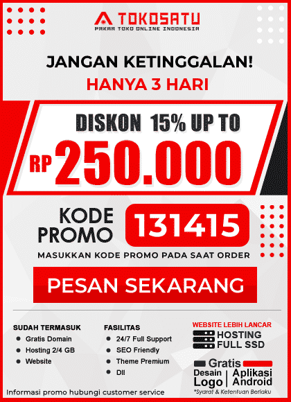 Diskon 15% up to 250.000