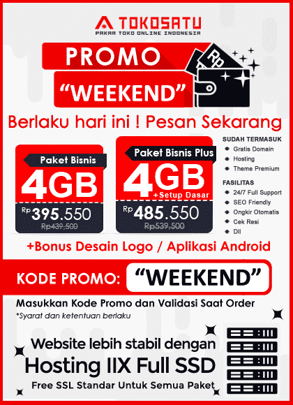 Promo Weekend Tokosatu, 20-22 November 2020