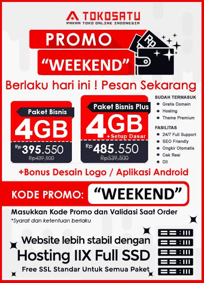 Weekend Promo 10% 30 – 31 Januari 2021