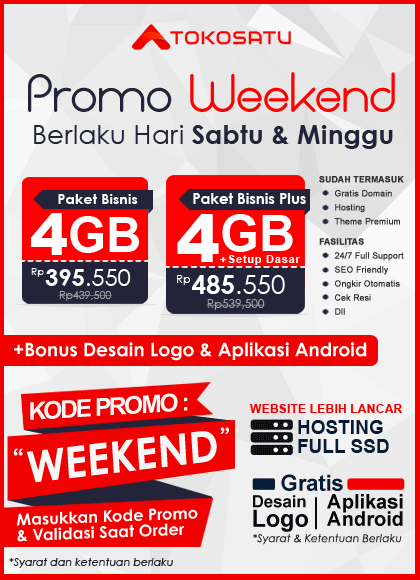 Promo Weekend Tokosatu 28-29 Agustus 2021