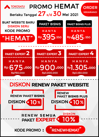 Promo Hemat Tokosatu 27 s/d 30 Mei 2021